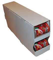 Cardboard Can Organizer / Rotation System   Kitchen, Pantry, Cupboard,  Organizers Food Storage   Ruggedthug