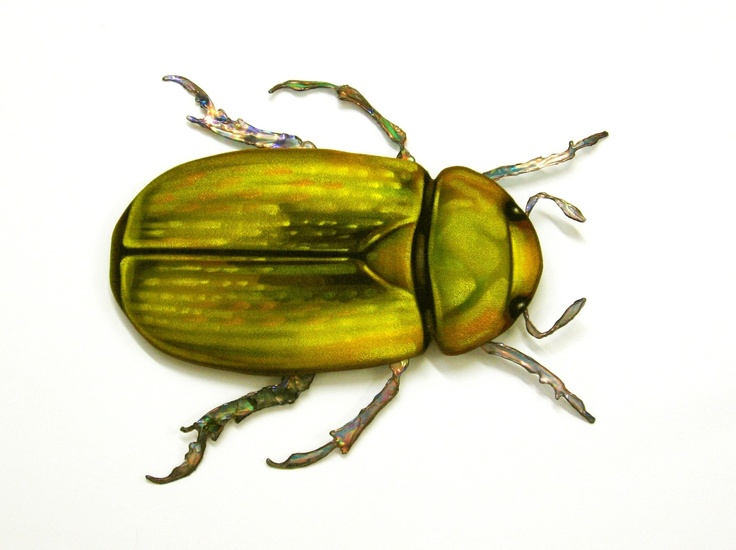 Golden Scarab- one of my velvet paintings
