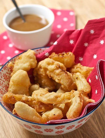 Pineapple Fritters with Five Spice Toffee Dipping Sauce by Sarah Trivuncic