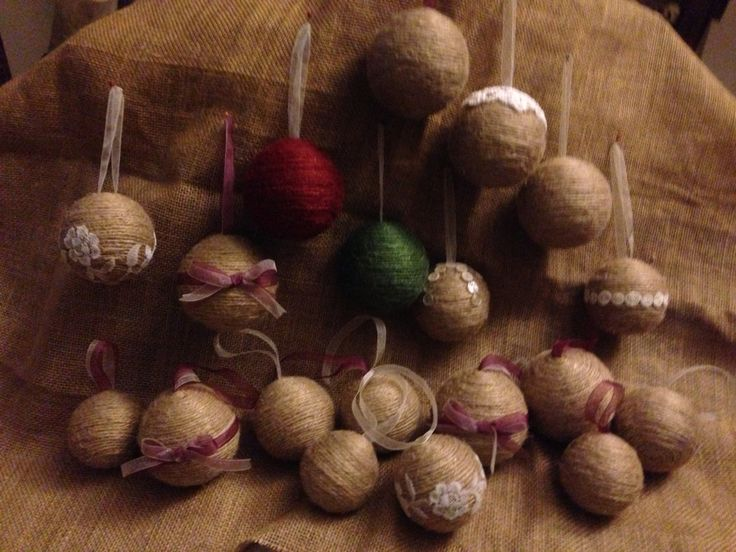 Home made baubles