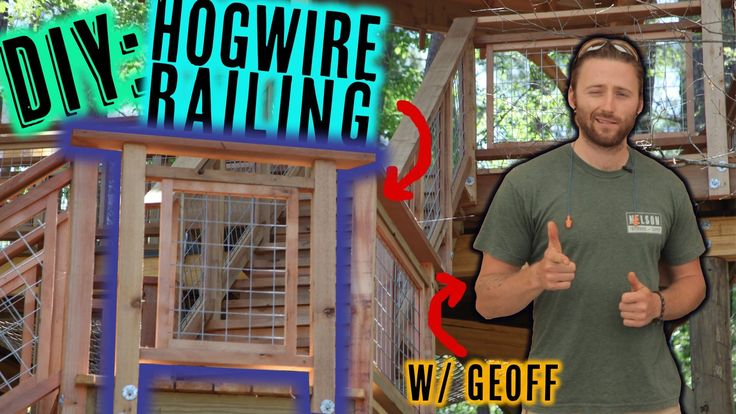 Want to add a bit of flair to your deck/patio? Learn how to make and retrofit these hog wire panels. Nelson Treehouse & Supply has used these railings on treehouses across America. Pete Nelson approved.