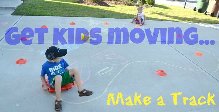 Make a Track: Get Moving & Practice Motor Skills from In Lieu of Preschool: Chalk Ideas, Outdoor Activities, Kids Moving, Practice Motor, Kids Activities, Gross Motor, Birthday Cake, Motor Skills