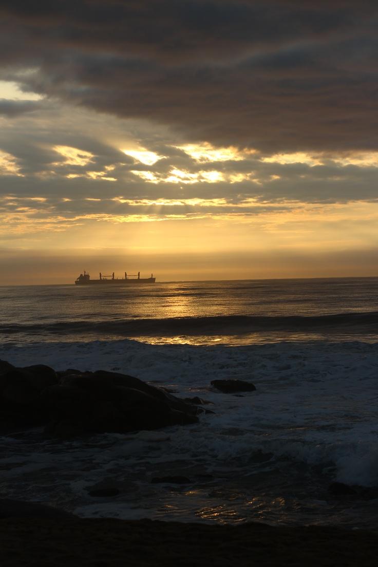 Sunrise over the indian ocean , taken in Durban Umhlanga SA