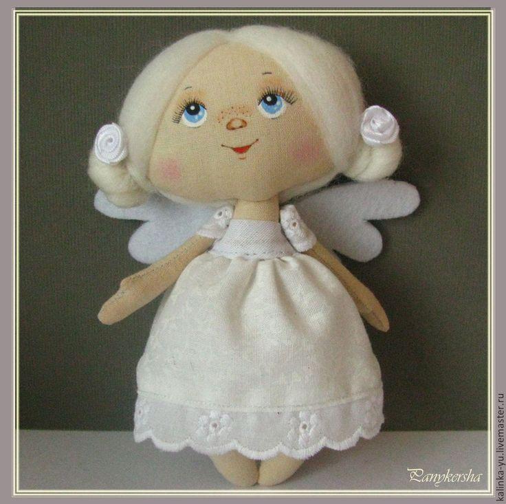 """Купить Ангелочек (из серии """"Малыши"""") - белый, ангел, крылья, кукла ручной работы"""