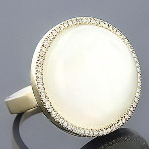 14K Diamond White Moonstone Ring 21.61 $ 1,374 ❤