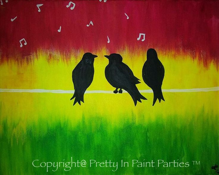 """Three Little Birds"" Artist: Jessica Elrod"