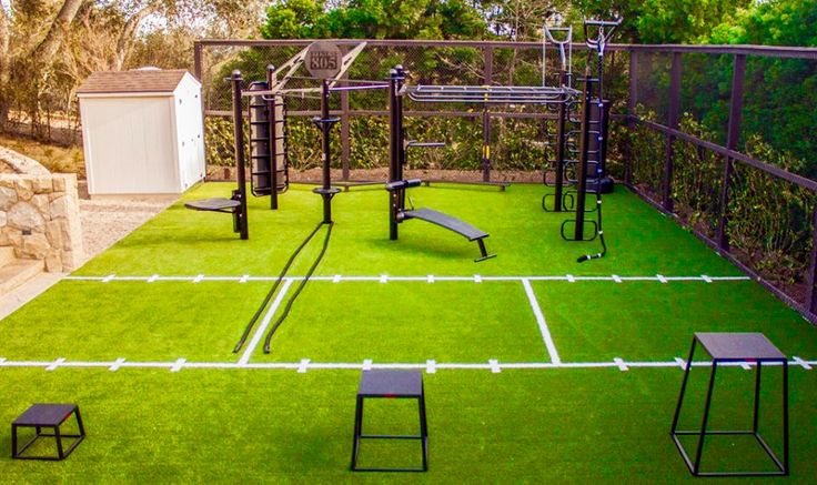 MoveStrong T-Rex outdoor FTS with turf. The Ultimate outdoor gym and functional fitness training area!