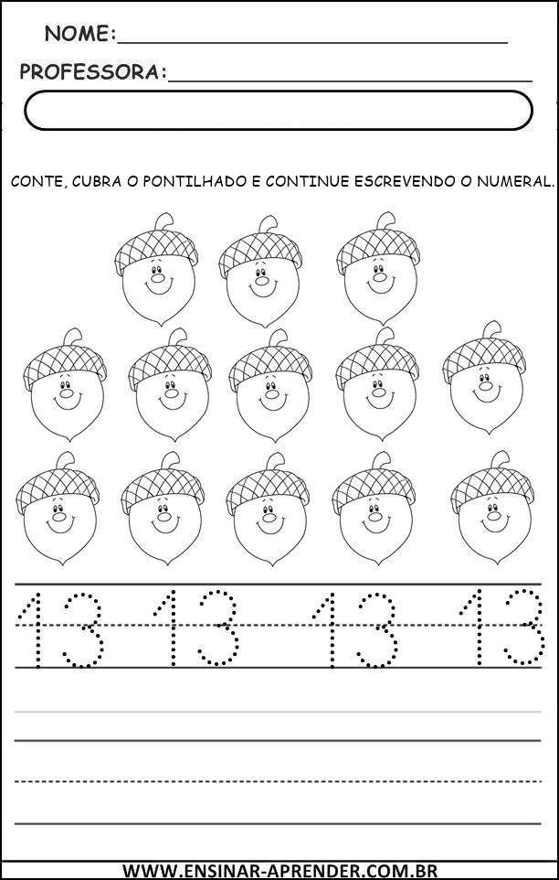 Numerais E Quantidades Cantinho Do Educador Infantil Números
