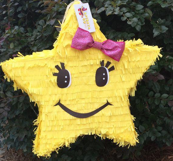 Listo para enviar Pinata estrella amarillo con por Theperfectpinata