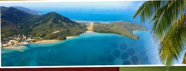 Also know as the Great Palm Island or of its Aboriginal Name of Bwgcolman. Palm is very picturesque and at times the ocean in beautiful azure blue. photo courtesy Palm Island Shire Council