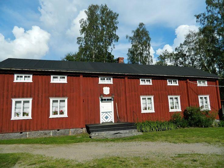 Ostrobothnian house. Brage open-air museum, Vaasa Finland.