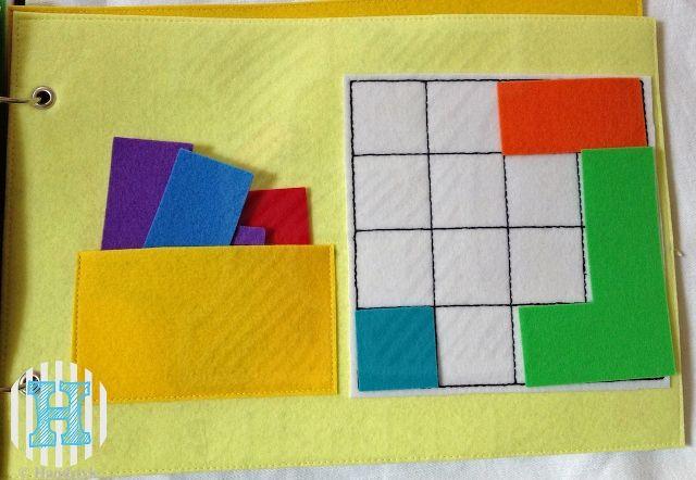 The Quiet Book Blog: Sabrina's Quiet Book - Tetris page