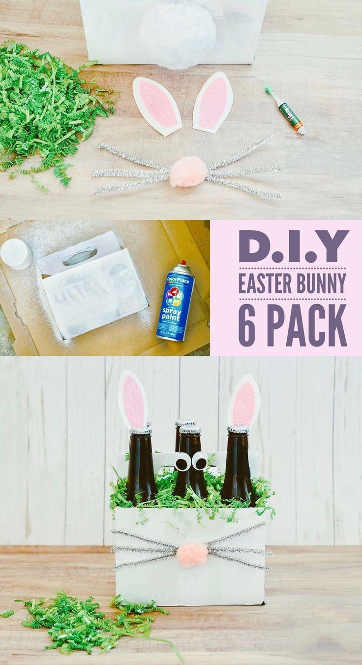 Diy Easter Bunny 6 Pack In 2019 Easter Easter Crafts Easter