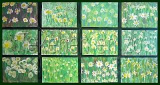 Tekenen lente: onderzoek: welke bloemen ga je tekenen? of materiaalonderzoek: welk materiaal is het fijnste om bloemen mee te maken (kleurpotlood, stift, wasco, verf)