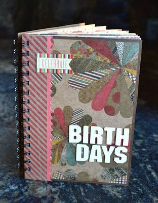 Tutorial | Birthday Book & Card Holder · Scrapbooking | CraftGossip.com