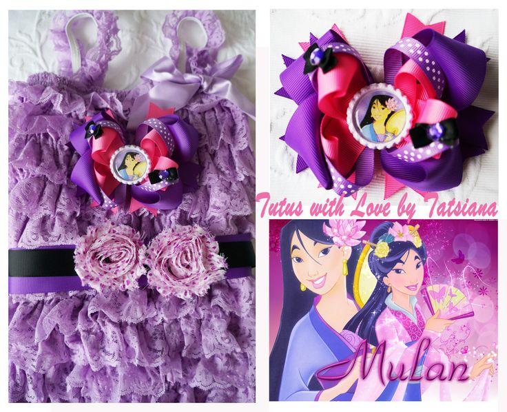 princess Mulan inspired romper set