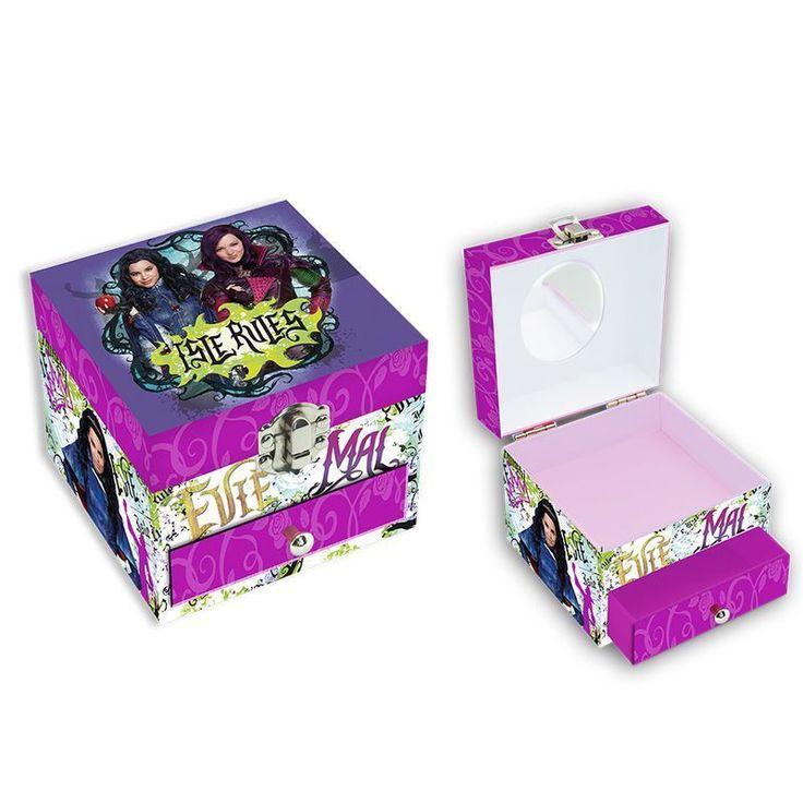 Descendants Disney square jewellry box with mirror Brand New Descendants
