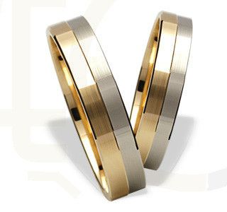 Obrączki ślubne z żółtego i białego złota / Wedding rings made from yellow and white gold / 1108 PLN #wedding_rings #gold #jewellery #jewelry #bizuteria #zloto #obraczki_slubne