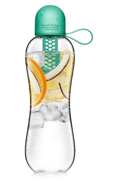 Free shipping and returns on bobble® 'Infuse™' Filtered Water Bottle at Nordstrom.com. A water bottle pulls double duty as both a filtered hydrator and a fruit infuser—just remove the carbon filter and add your favorite fruits or vegetables to the bottle for a refreshing drink. The Tritan™ copolyester composition combines the elegance of glass with the durability of plastic.