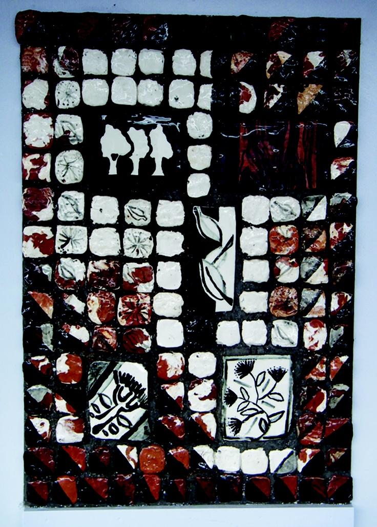 Auckland NZ Pt Chevalier School: Series Rata Tapa = Hand made clay tiles