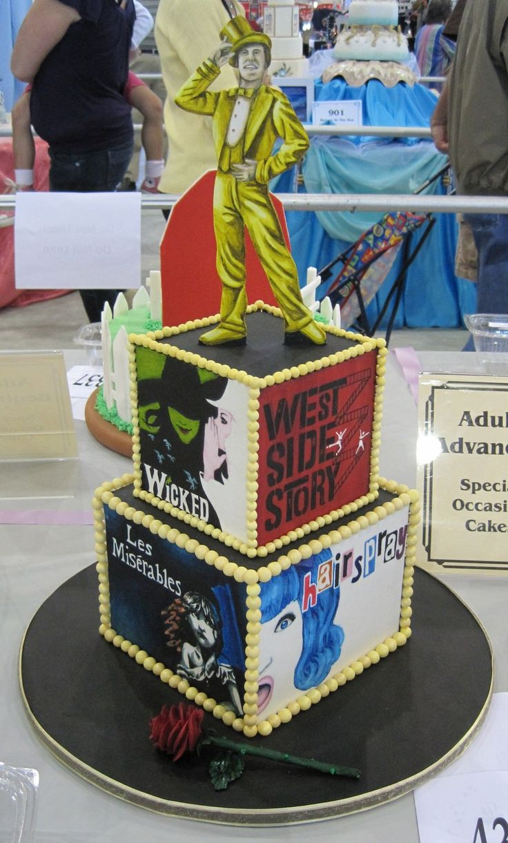 13 Best Broadway Themed Cake Images On Pinterest Themed