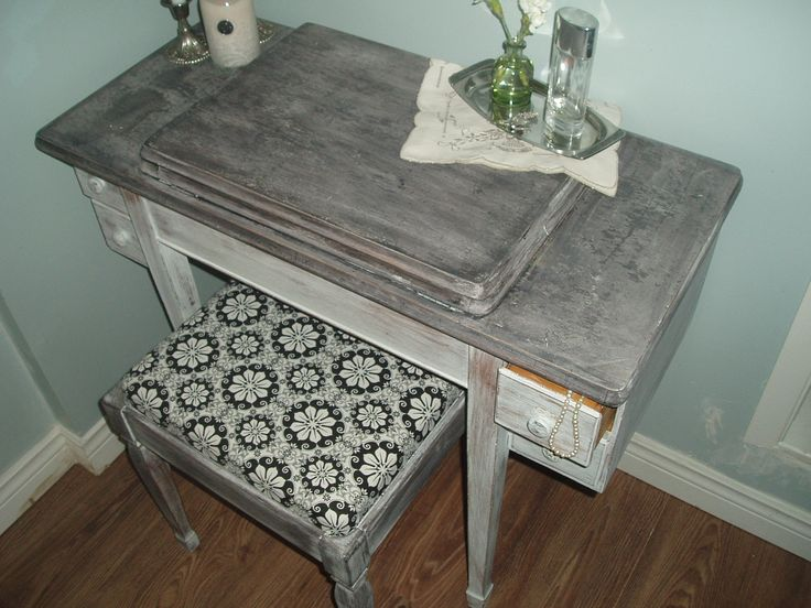 Shabby chic sewing table/vanity set