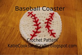 Baseball Coaster ~ free pattern