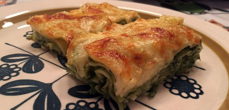 Vegetarlasagne med spinat
