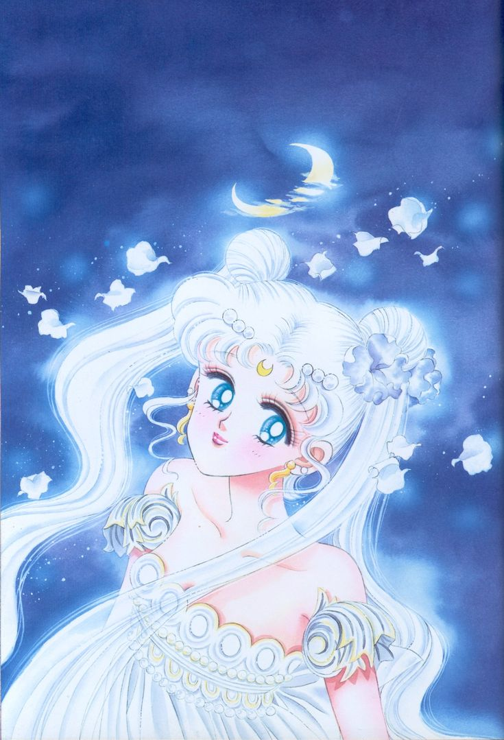 "Princess Serenity from ""Sailor Moon"" series by manga artist Naoko Takeuchi."