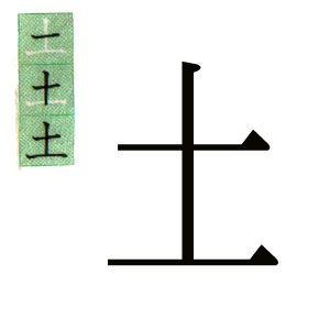 19.- KANJI JAPONES: 土。TIERRA, SABADO。ハポネスカの一年生の漢字。スペイン語で説明。