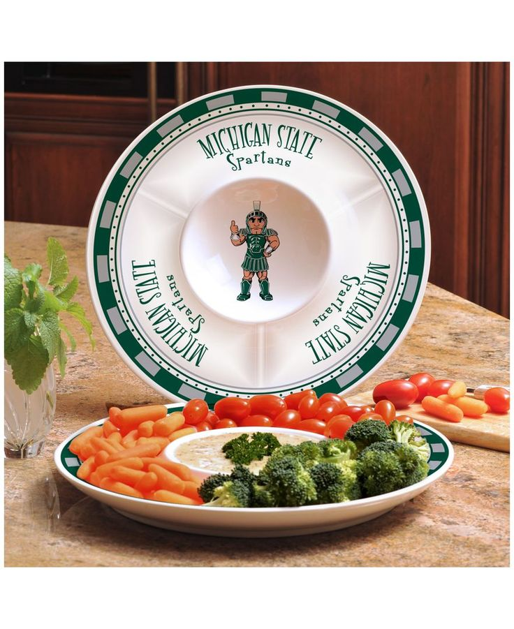 Memory Company Michigan State Spartans Ceramic Chip & Dip Plate