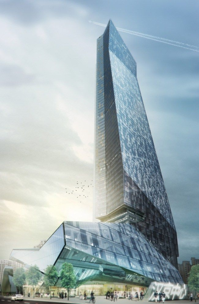 The Hanking Center Tower: Striking Folds of Steel in Shenzhen China by Morphosis Architects | Archute