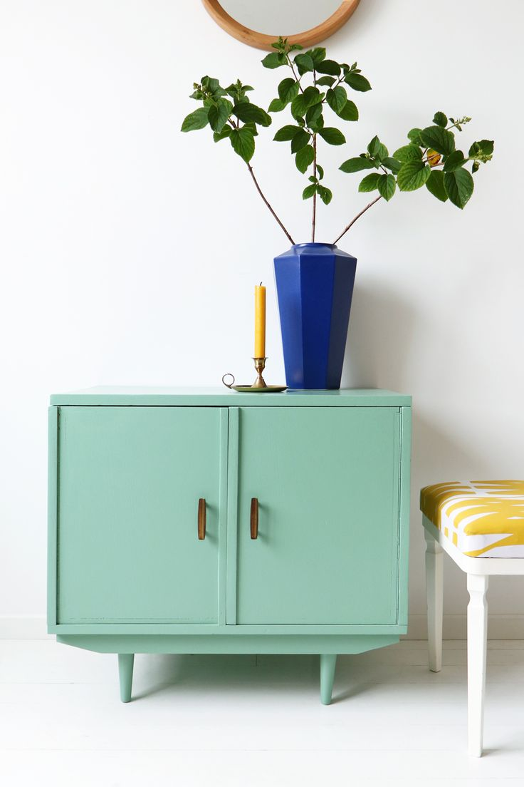 MY ATTIC SHOP / vintage / dresser / green / groen / Flexa / colourful / kleurrijk Photography: Marij Hessel www.entermyattic.com