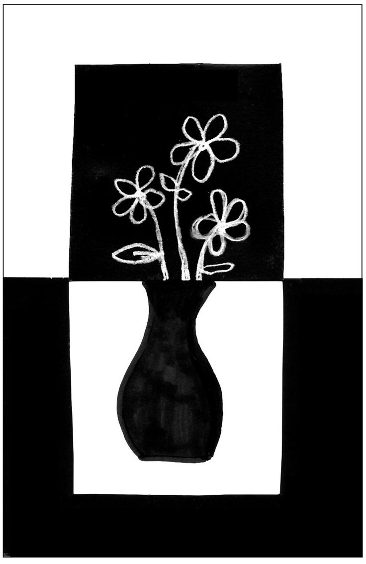 black/white positive/negative still-life  Art Projects for Kids