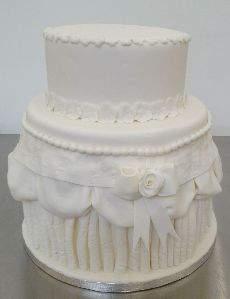 Dress Inspired Wedding Cake