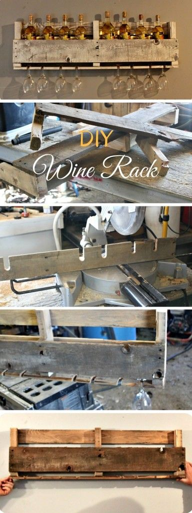 Check out the tutorial: #DIY Pallet Wine Rack #crafts #rustic #homedecor