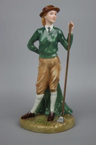"Royal Doulton Figurine HN4364 ""Women's Land Army"" LE - LUX-FAIR.com - 1"