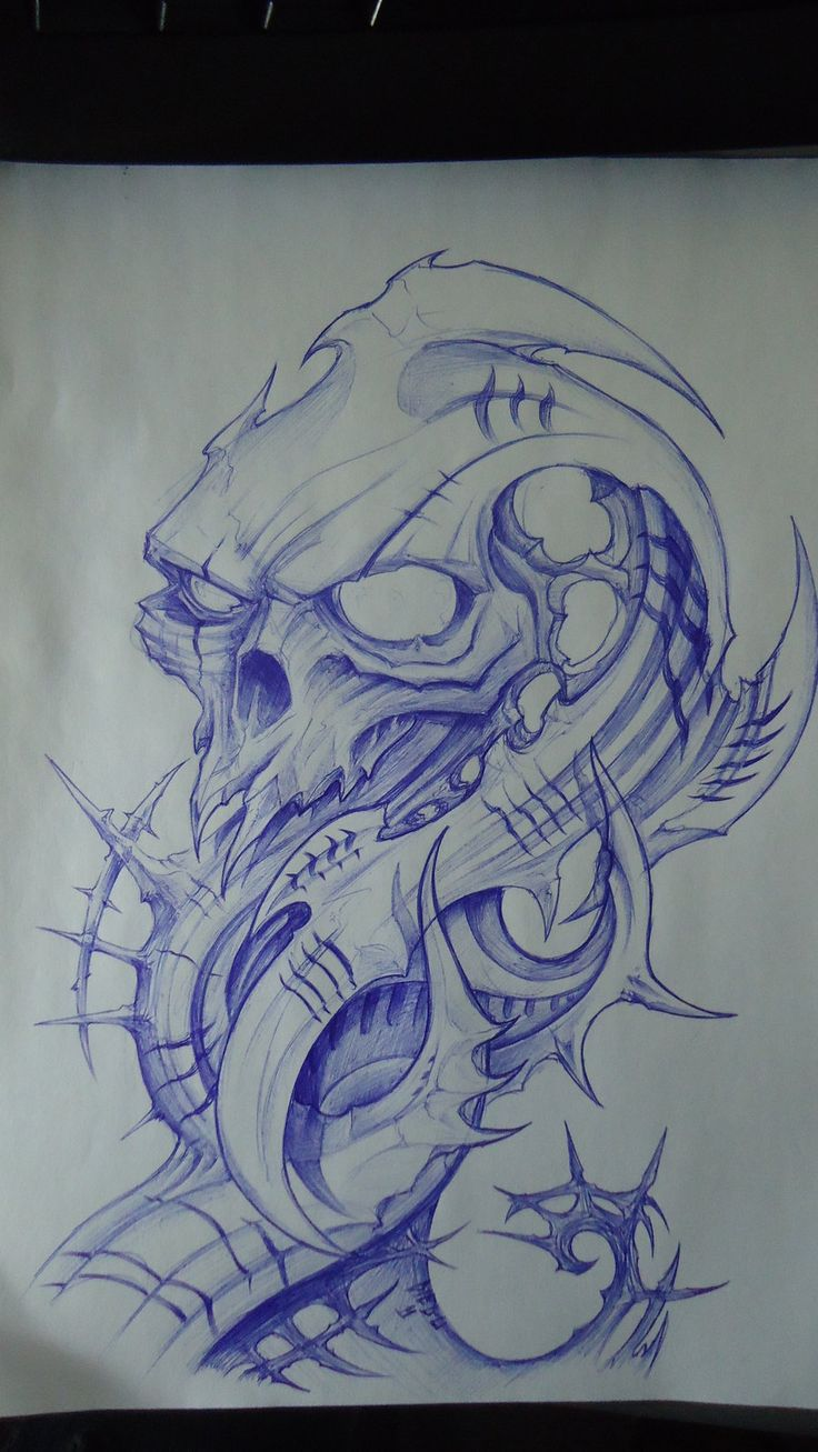 biomech skull design by DiegoCT92.deviantart.com on @DeviantArt