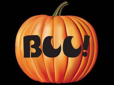 pumpkin stencils free printable | Three bats flying - Bat ... |Bats Boo Pumpkin Stencil