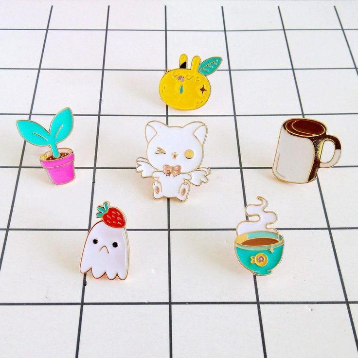 Mode sieraden Grappige Kleine Kat Aardbei Fruit Koffie Broche in    van broches op AliExpress.com   Alibaba Groep