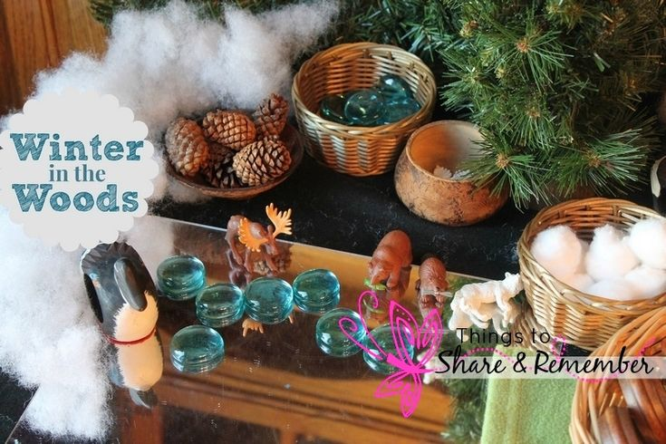 Winter in the Woods Invitation to Play & Small World Play