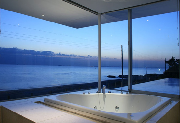 Bathroom with a view: Bathroom Design, Beach House, Dream Bathrooms, Bathtubs, The View, Dreams Bathroom, Hot Tubs, Ocean View, Oceanview