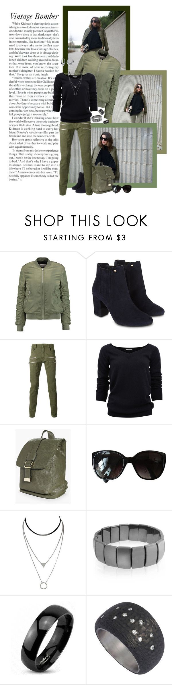 """""""Vintage Bomber"""" by shyloc ❤ liked on Polyvore featuring W118 by Walter Baker, Monsoon, Faith Connexion, Brunello Cucinelli, Boohoo, Chanel, Bling Jewelry, West Coast Jewelry and vintage"""
