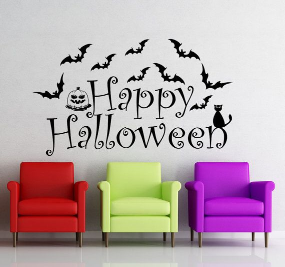 Best Colored Halloween Decals Images On Pinterest Wall Decals - Vinyl wall decals home party