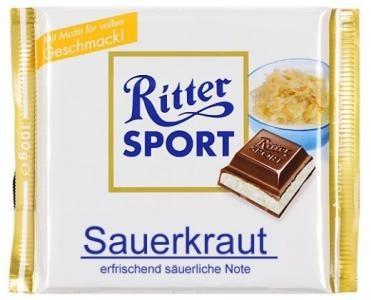 RITTER SPORT Fake Schokolade Sauerkraut