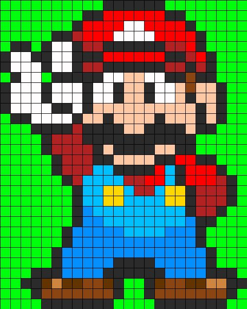 mario full body perler perler bead pattern bead sprites characters fuse bead patterns. Black Bedroom Furniture Sets. Home Design Ideas