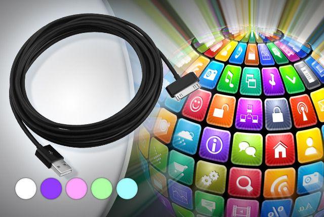 3m iPhone/iPad/iPod Colour Cable