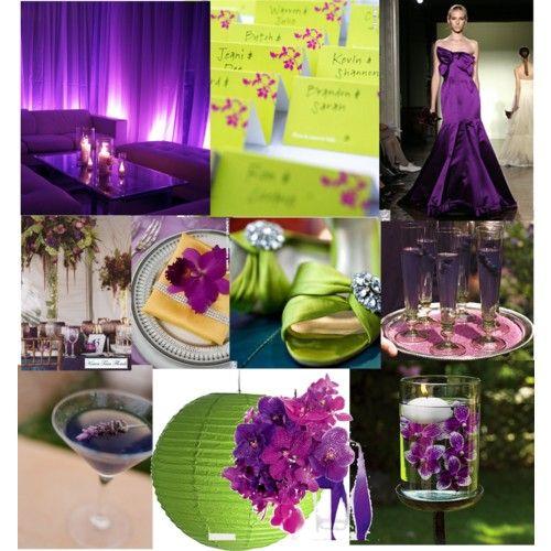Lime Green And Purple Wedding