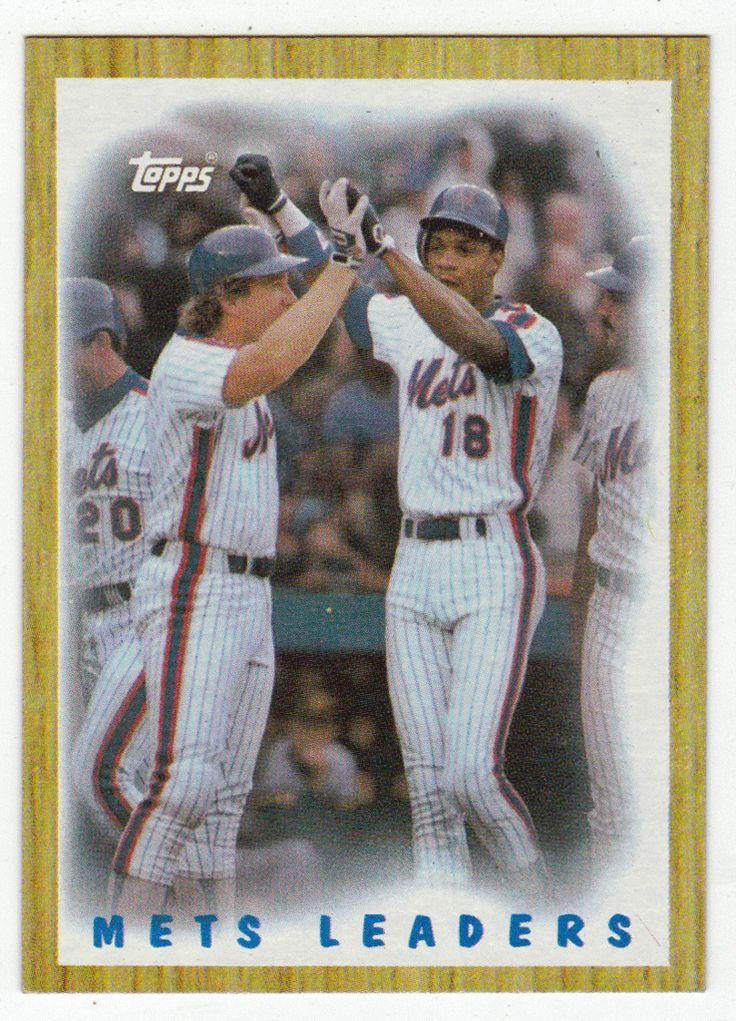 Gary Carter / Darryl Strawberry # 331 - 1987 Topps Baseball