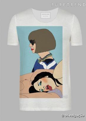 Desejoooooo! - Ilustrador Marcio Alek desenha imagens de ícones da moda em camisetas